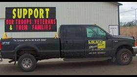 4′ x 8′ Auto Mountable Black Sign