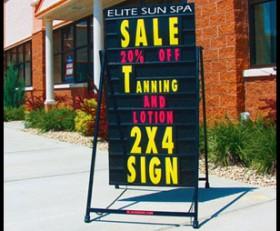 4′ x 4′ Sidewalk Info Black Sign